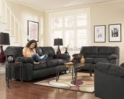 SOFA SET DOMINATOR BLACK UPHOLSTERY SIGNATURE DESIGN BY ASHLEY
