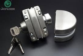 manufacture of door lock smart frameless sliding glass door lock