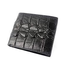 <b>Baellerry Genuine</b> Leather <b>Mens Wallet</b> Slim Crocodile Pattern ...