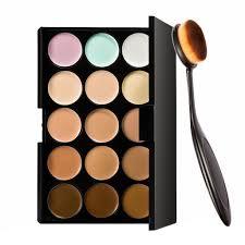 okayji 15 colors contour face cream makeup concealer palette make up brush