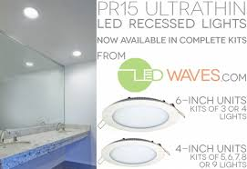 Low Profile Led Recessed Lighting