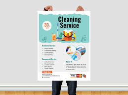 Commercial Cleaning Flyers Cleaning Service Flyer Template By Ar Xihad On Dribbble