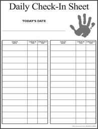 Check Out Sheet Image Result For Check In Check Out Sheet Daycare Forms