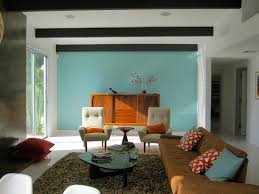 Blue Wall Retro Living Room