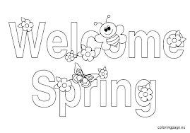 Free Coloring Sheets For Spring Springtime Coloring Pictures