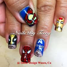 Marvel Superhero Gel Nails Character Nail Art By Terry Designs