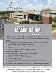 Scheduling Mammograms Through Iris Hattiesburg Clinic