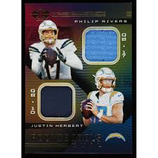 Maybe you would like to learn more about one of these? Justin Herbert Philip Rivers 2020 Panini Illusions Rookie Idols Dual Memorabilia 4 Pristine Auction