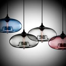 modern multi pendant lamp with clear glass shade