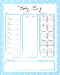 Baby Daily Log Template Free Jmjrlawoffice Co