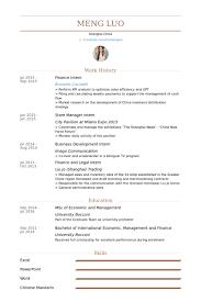 Finance Intern Resume samples