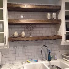 floating shelf with a wine glass rack farmhouse shelf rustic shelves reclaimed wood