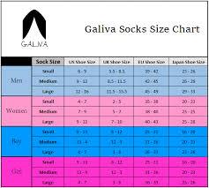 Galiva Socks Size Charts