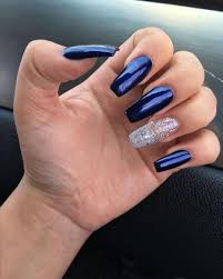Navy Blue Nail Designs For Prom Pinterest Girly Girl Add Me For More