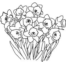Flowers Coloring Pages Printable Flower Coloring