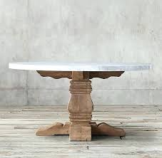 marble top dining table round round marble dining table salvaged wood marble trestle round dining table