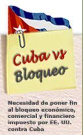 Resultado de imagen de CUBA CONTRA BLOQUEO