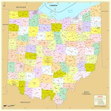 buy ohio zip code map with counties fair of codes to  world maps