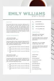 Resume Template Cv Cover Letter Emily Williams Resume Template