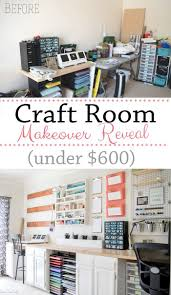 office craft ideas. Craft Room Makeover Reveal! So Many DIY Storage Options On The Wall And Everything In Office Ideas I