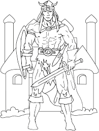 Viking Coloring Pages The Viking Coloring Picture Printable Viking