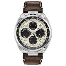 men s citizen promaster tsuno chronograph racer leather watch av0079 01a reeds jewelers