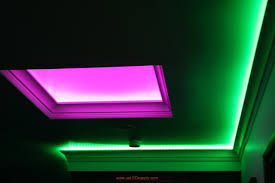 skylight with rgb led strips facing up