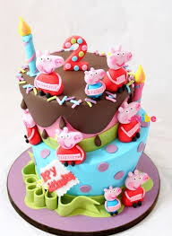 Order Lovely Peppa Pig Theme Cake Online Birthday Cake In