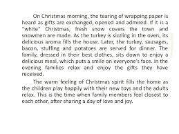 Christmas Day Essay Descriptive Essay About Christmas Holiday Descripitive