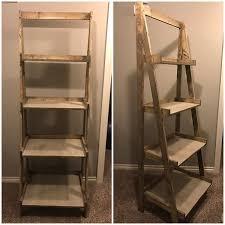 furniture ladder shelves. ana white painters ladder shelf furniture shelves
