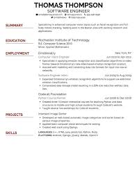 Good Font For Resume Header Professional Resume Templates