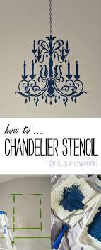 chandelier stencil tutorial