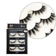 <b>3 Pairs Natural</b> Long False Eyelashes Handmade 3D lashes Thick ...