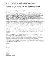 Sample Letter Of Recommendation Nursing Graduate School