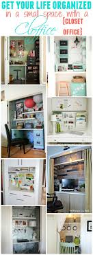 organize small office. Get Organized In A Small Space With Cloffice {Office Closet Organize Office L
