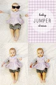 Free Baby Dress Patterns Custom Gingham Style Free Baby Jumper Dress Pattern With A Ruffle