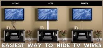 hide tv wires easy