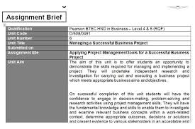 unit managing a successful business project assignment hnd help unit 6 managing a successful business project assignment