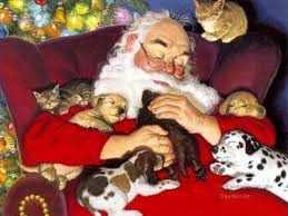 Image result for Christmas Santa paintings