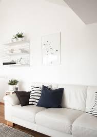 Monochrome Living Room Decorating Monochrome Scandinavian Living Room String Shelf One Must Dash