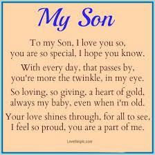 To My Son Quotes New My Son Pictures Photos And Images For Facebook Tumblr Pinterest