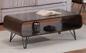 retro coffee table mid century modern vintage walnut tables open storage display