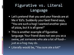 literal language essay on figurative language versus literal language