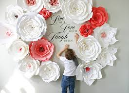 White Paper Flower Wall Amazon Com Paper Flower Backdrop Giant Paper Flowers Wall Paper
