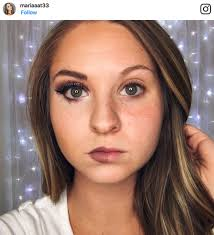 now the latest trend making waves on insram involves women posting pictures of themselves with makeup on one side of their face and no makeup on the