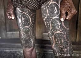 традиционная татуировка мужчин коренных племен мьянма Funtattooru