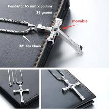 cross necklace blue sweet couple necklaces fast and furious pendant for men sterling silver