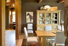 rustic dining room hutch. Rustic Dining Room With A Fabulous China Hutch That Complements Its Style Perfectly [Design: O