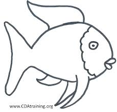 coloring rainbow fish coloring page template the outline full colouring sheets
