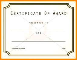 Blank Award Template Best Employee Award Template Download Now